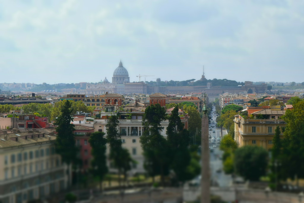 Aussicht Piazza Popolo