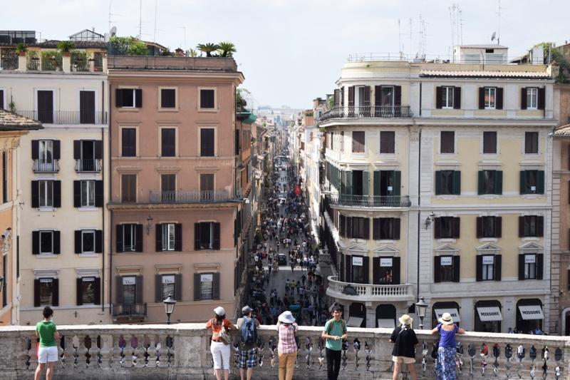 Urlaubsbericht ROM - Übersicht von der spanischen Treppe