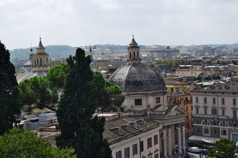 Urlaubsbericht ROM - Aussicht Piazza del Popolo