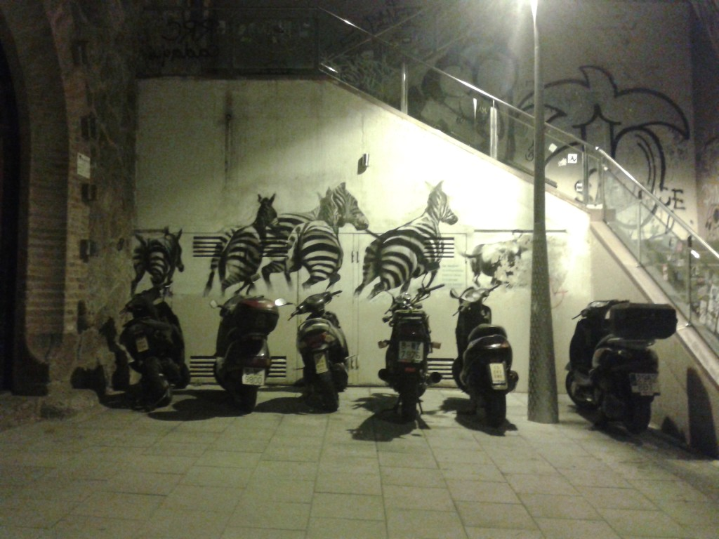 parkplatz in barcelona