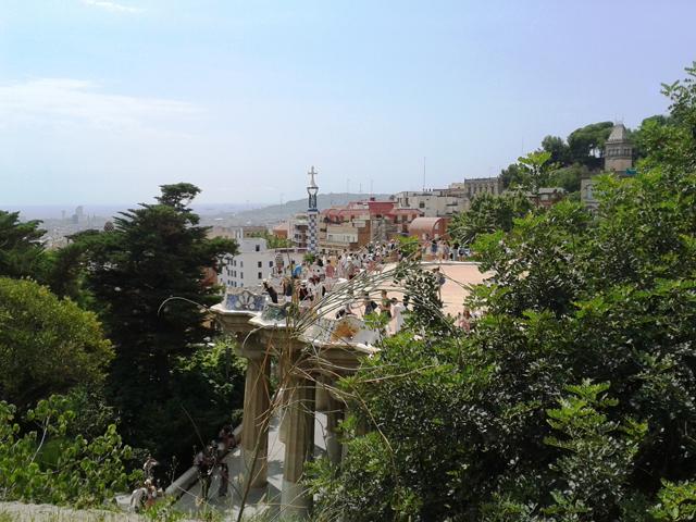 urlaubsbericht barcelona park guell überblick