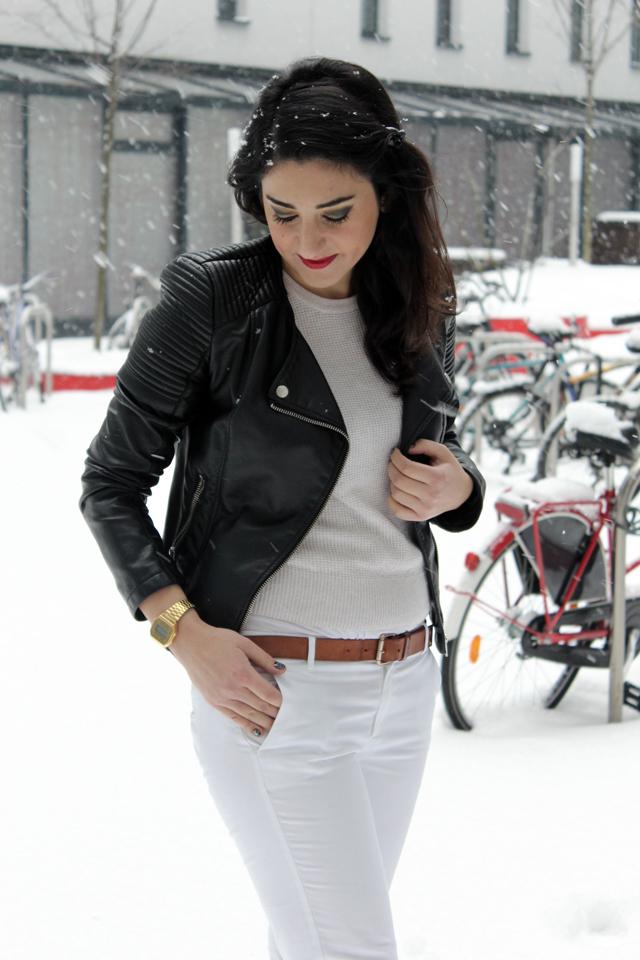 outfit weiß im winter - look oberteil