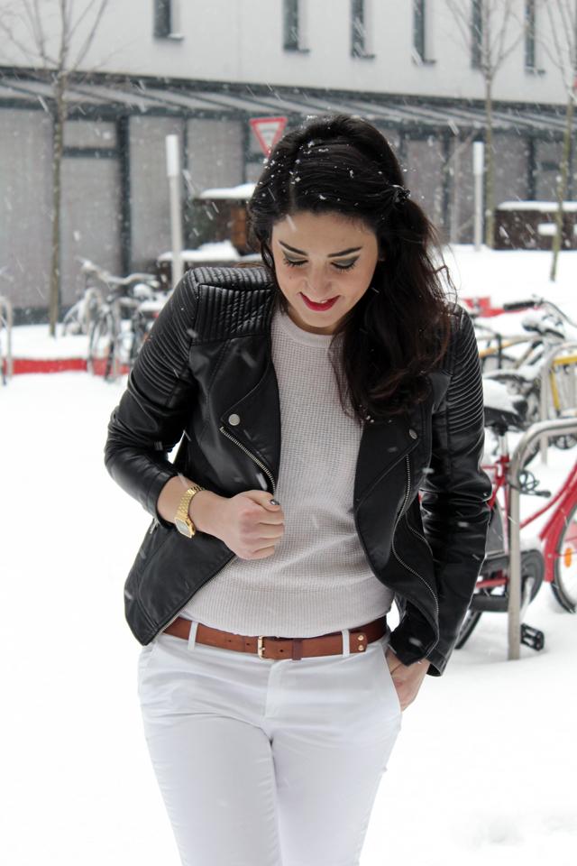 outfit weiß im winter - oberteil look