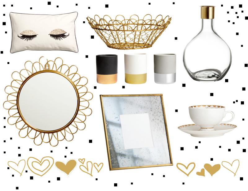 interior design goldene dekoraion