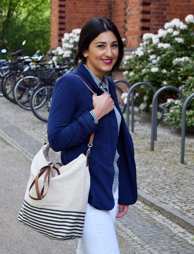 outfit marine blau modeblog