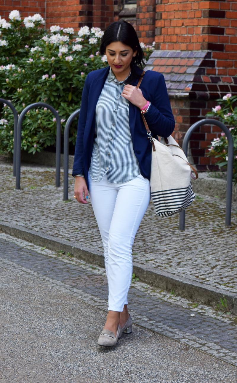 outfit marineblau