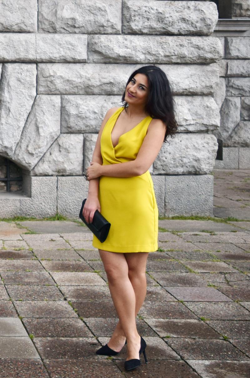 Oufit gelbes Abendkleid Modeblog THINGSAREFANTASTIC