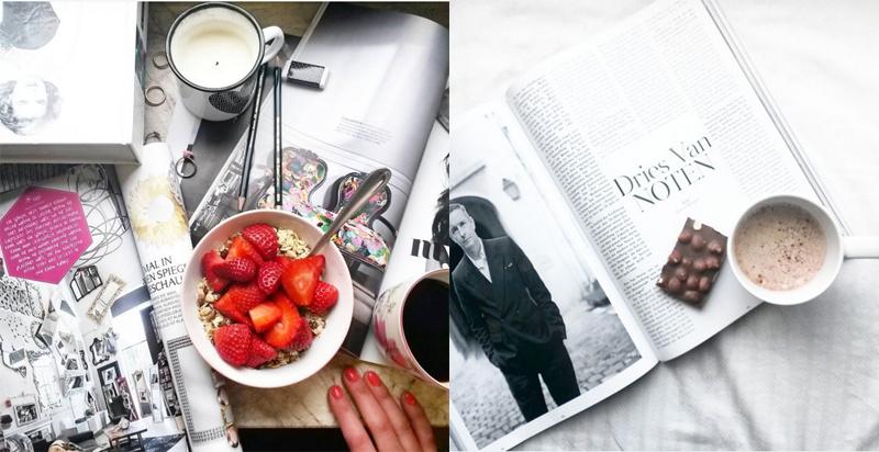 Instagram Bilder Kaffee und Früstück