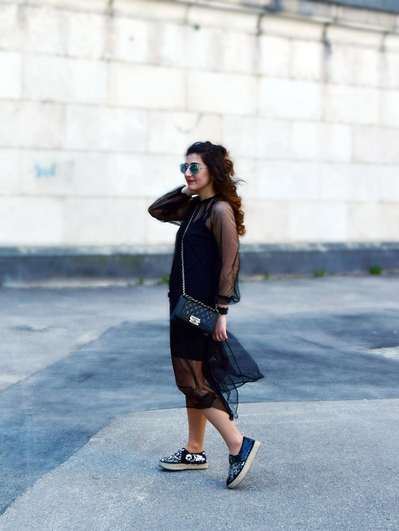 Hipster Damen Outfit sschwarz