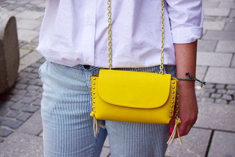 handtasche zum schulterfreien top