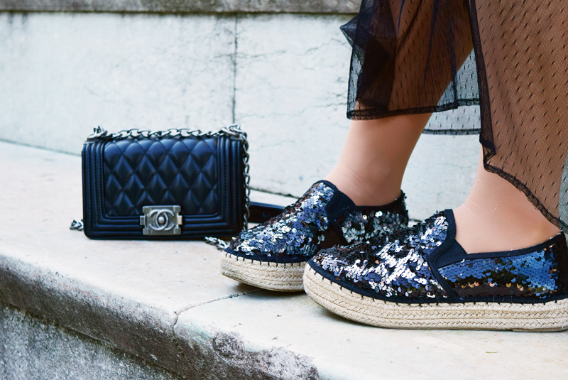 hipster Outfit mit Chanel Boyfriend Bag