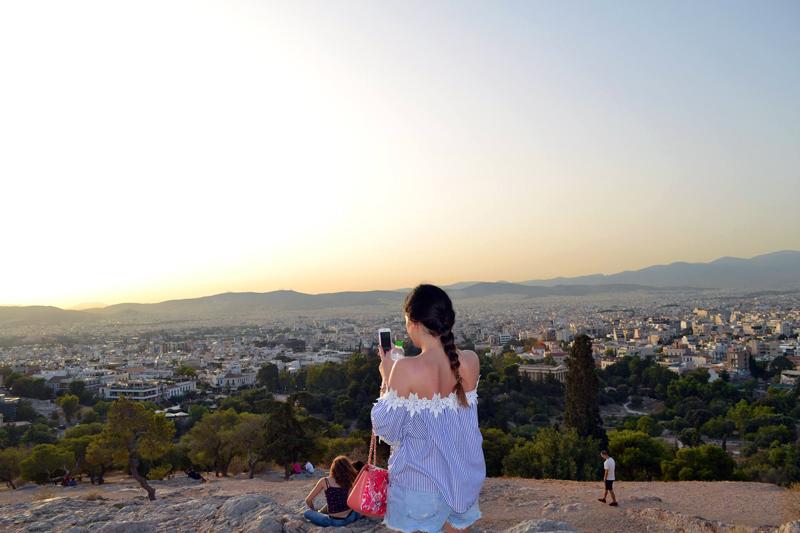 View von der akropolis