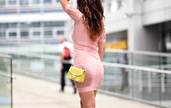 bandagenkleid modeblogger look