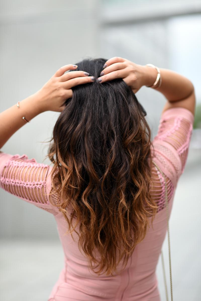 bodycon Kleid Outfit - schöne Haare