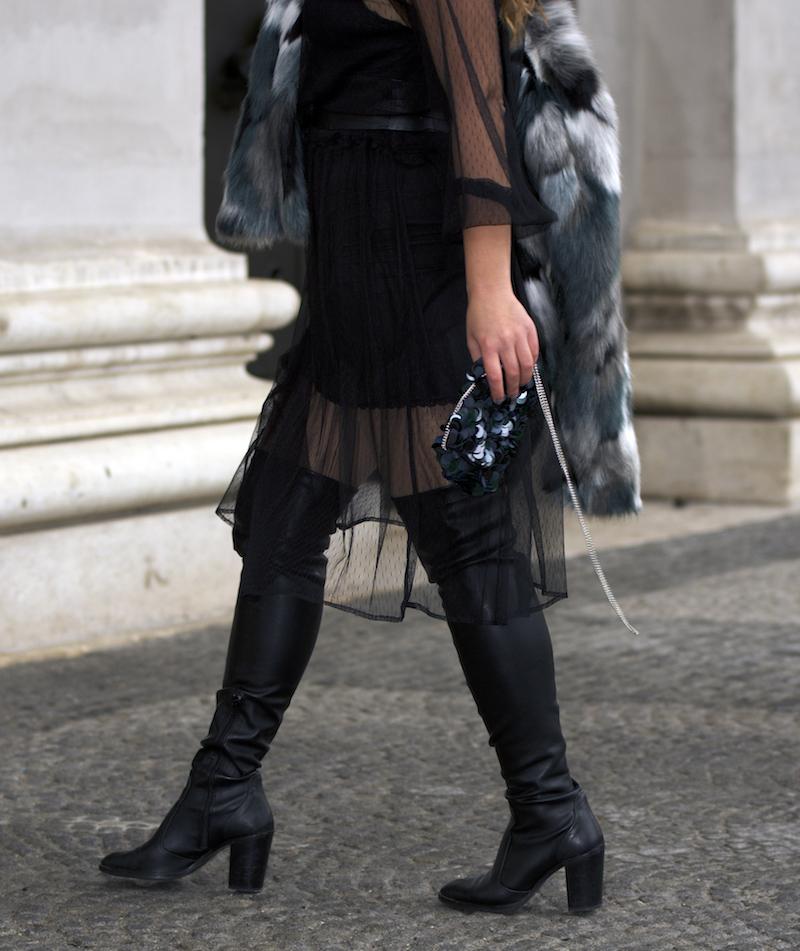 Modetrend Netzstoffkleid