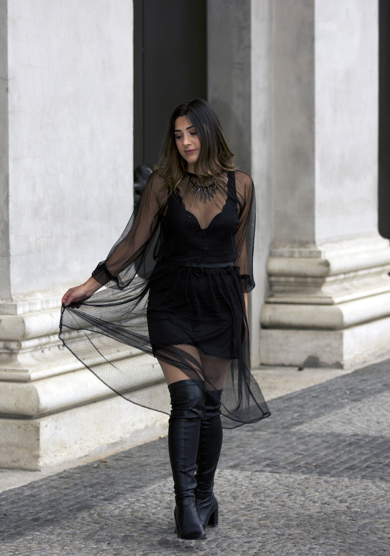 Netzkleid Outfit Trend