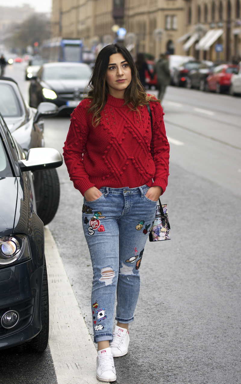 bommel pullover outfit