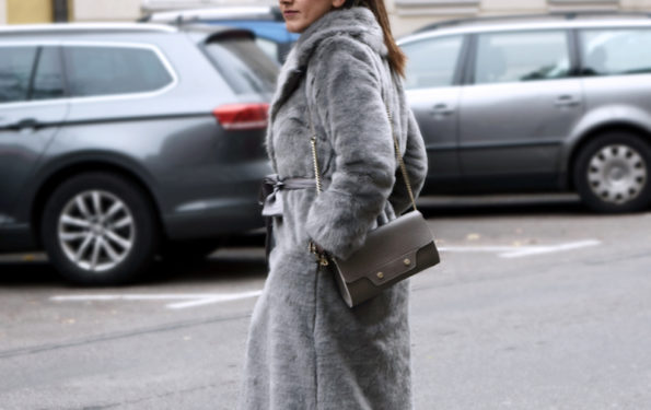 fake fur jacke blogger outfit