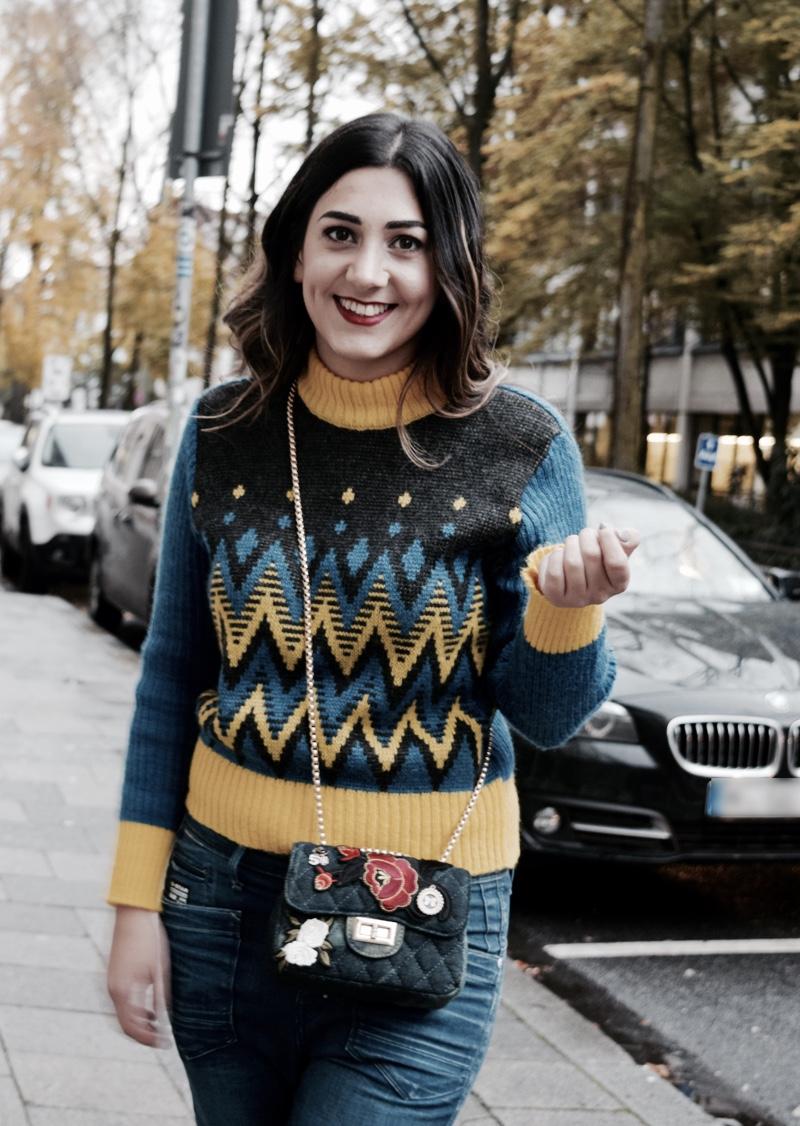 vintage jumper als herbst outfit