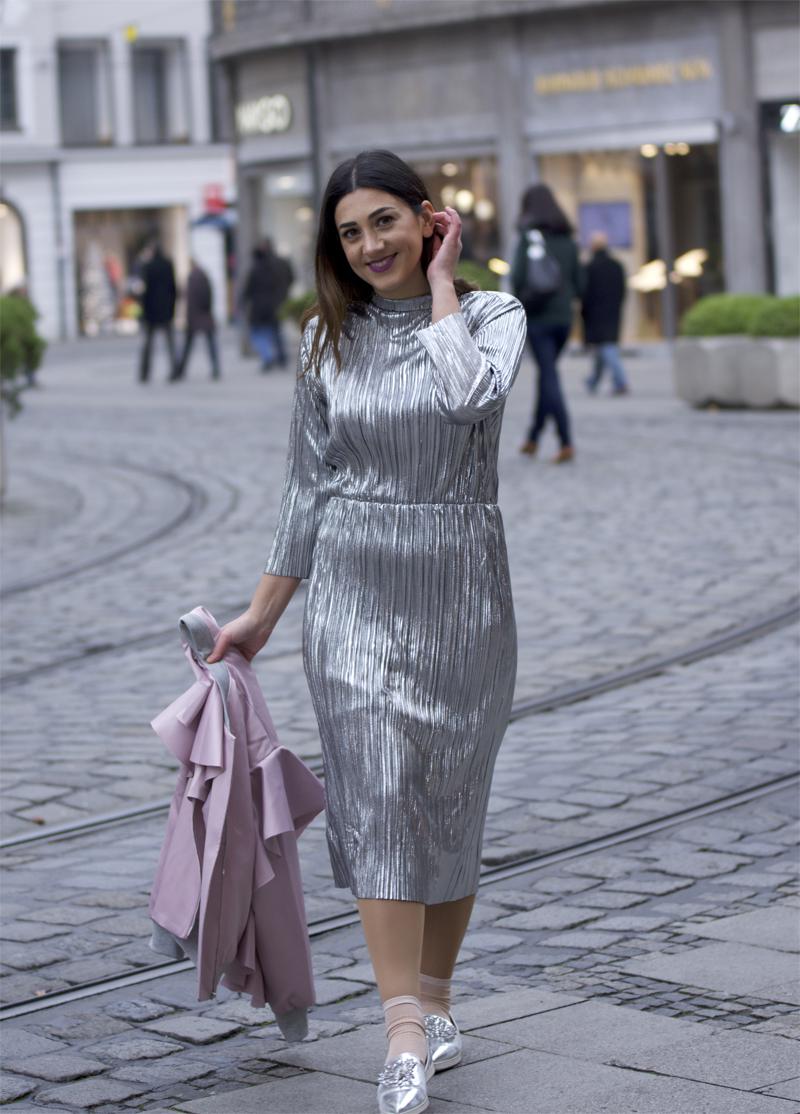 metallic kleid für die Stadt