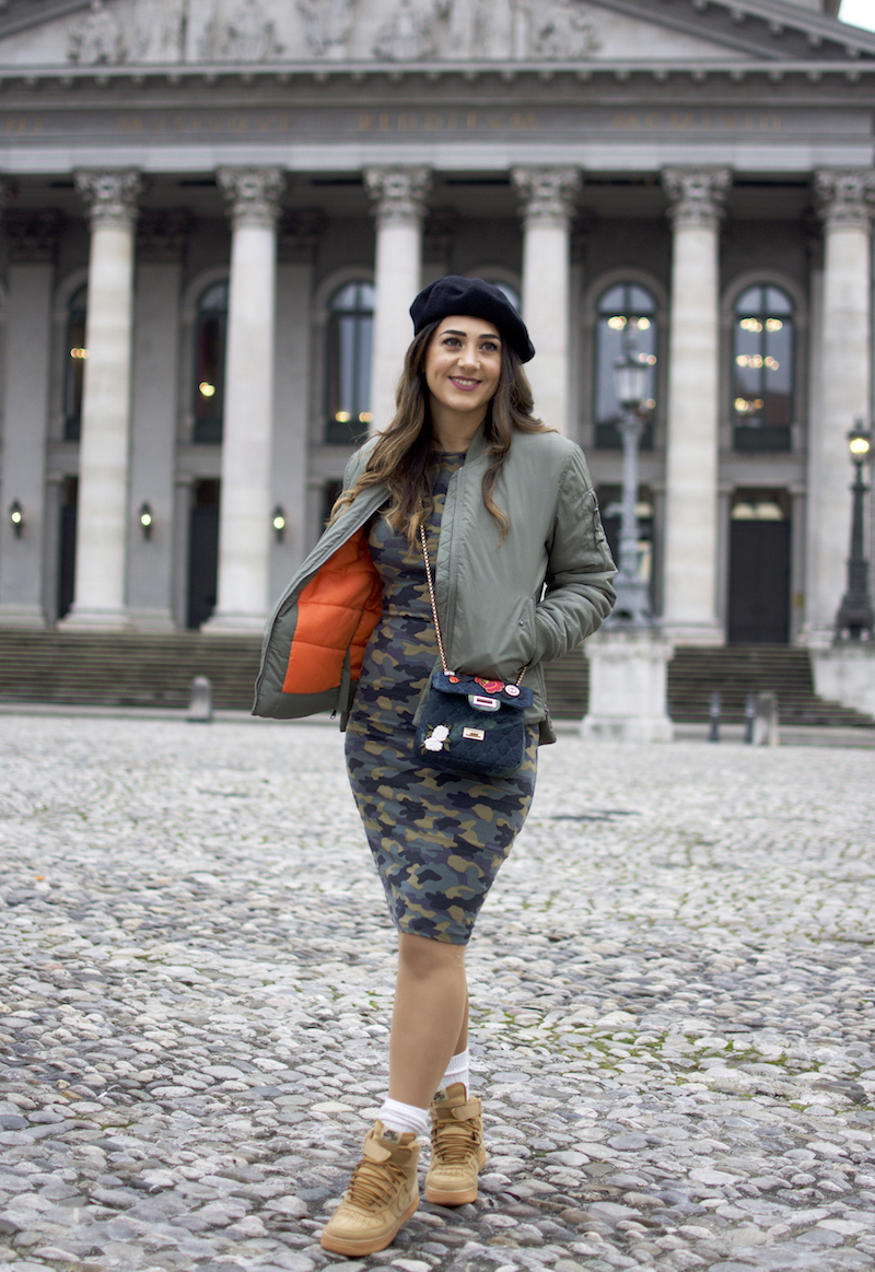 military style blogger look