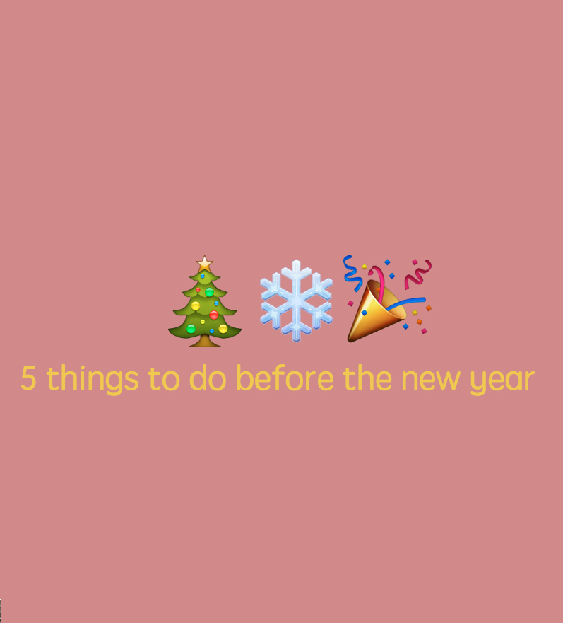 things to do befor the new year