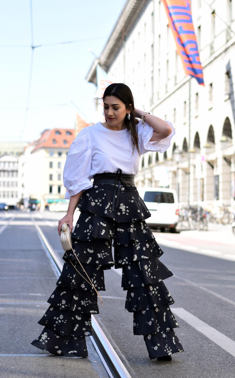 Fashion Outfit mit rüschen und Volants