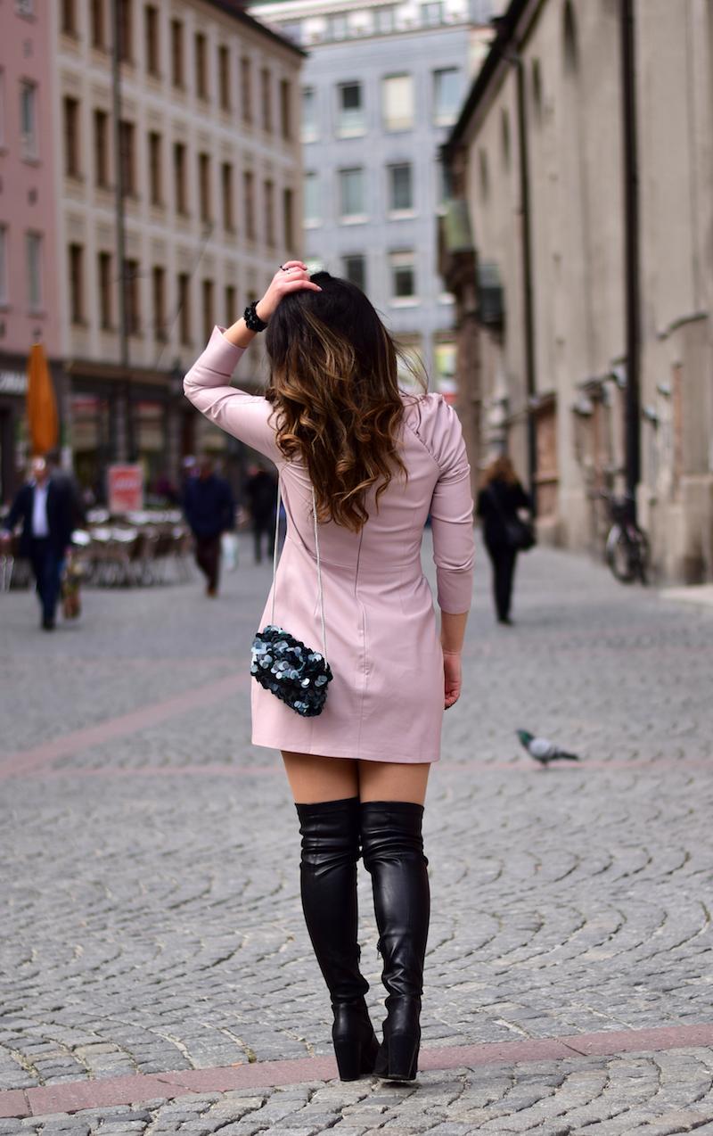 lederkleid Outfit