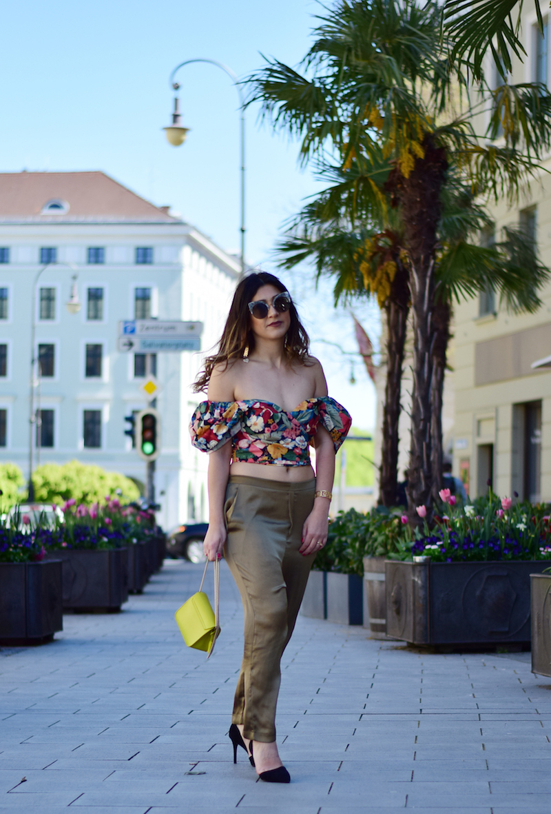 bauchfreies blogger outfit