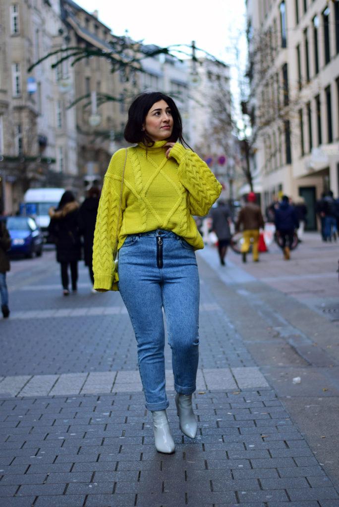 mom jeans tragen